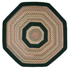 Pioneer Valley II Autumn Wheat with Dark Green Solids Multi Octagon Rug