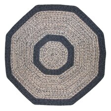 Town Crier Blue Heather with Blue Solids Indoor/Outdoor Rug
