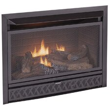<strong>KozyWorld</strong> Dual Fuel Firebox and Log Combo Vent Free Gas Fireplace