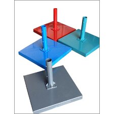 Small Plain Powder Coated Steel Concrete Filled Umbrella Base