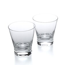 Aarne 8 Oz. Double Old Fashioned Glasses (Set of 2)
