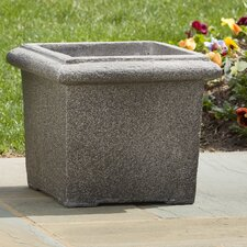 <strong>Alfresco Home</strong> Square Rolled Rim Planter
