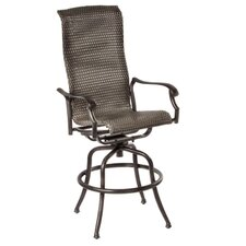 "<strong>Alfresco Home</strong> Hemingway 30"" High Back Swivel Bar Arm Chair (Set of 2)"