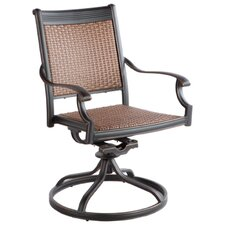 <strong>Alfresco Home</strong> Pilot Swivel Dining Arm Chair (Set of 2)