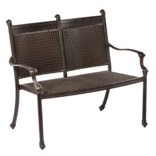 Anchor All-Weather Wicker Garden Bench