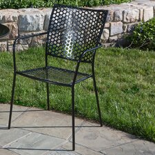 Martini Stacking Dining Arm Chair (Set of 2)