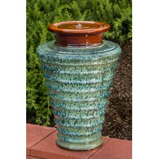 Twister Indoor / Outdoor Ceramic Urn Fountain