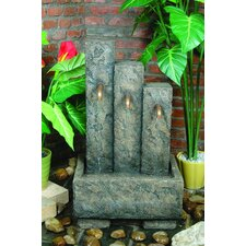 Valle Outdoor Resin Tiered Fountain