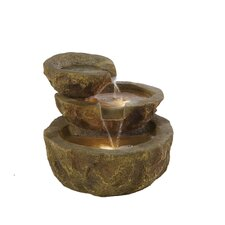 <strong>Alfresco Home</strong> ValGardena Outdoor Resin Tiered Fountain