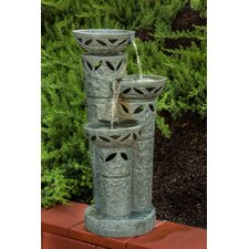 Cantera Outdoor Resin Tiered Fountain