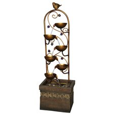 Pajaro Outdoor Resin Tiered Fountain