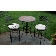 <strong>Alfresco Home</strong> Asti Mosaic Bar Bistro Set
