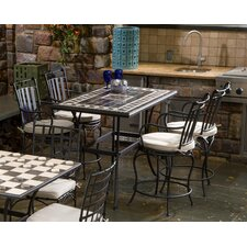 <strong>Alfresco Home</strong> Gibraltar 5 Piece Gathering Height Dining Set