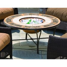 <strong>Alfresco Home</strong> Compass Mosaic Fire Pit and Beverage Cooler Table