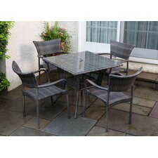 Tutto All Weather Wicker 5 Piece Dining Set