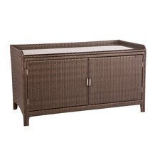 All Weather Wicker Outdoor Sideboard Console Storage Table