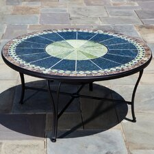 Ponte Mosaic Fire Pit and Beverage Cooler Table