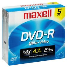 <strong>Maxell</strong> DVD-R 5 Pack Data and Video