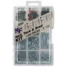 Nail, Tack and Brad Assortment Kit