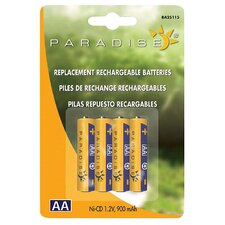 <strong>NorthernInternational</strong> 4 Count Paradise® Ni-Cd 1.2V AA Rechargeable Batteries