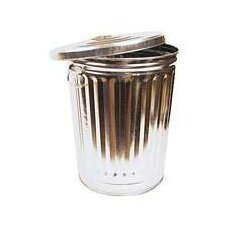32 Gallon Galvanized Tapered Garbage Can