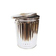 30 Gallon Galvanized Household Weight Garbage Can
