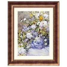 Museum Reproductions Vase de Fleur by Pierre Auguste Renoir Framed Painting Print
