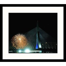 National Treasures Zakim Bridge, 4th of July Framed Photographic Print