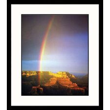 Rainbow Over Grand Canyon Framed Photograph