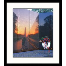 National Treasures 'Reflections, Vietnam Wall Memorial' by Tom Dietrich Framed Photographic Print