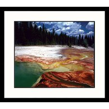 Yellowstone Geyser Framed Photograph