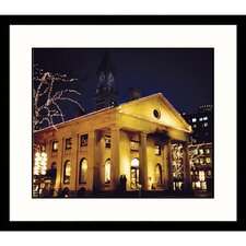 Cityscapes Quincy Market Boston Framed Print
