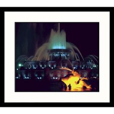 Cityscapes Chicago Fountain Framed Photographic Print