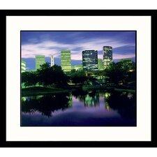 Cityscapes Charlotte Dusk Framed Photographic Print