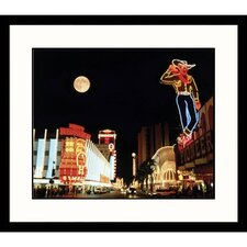 Cityscapes 'Downtown Las Vegas' by Michael Howell Framed Photographic Print