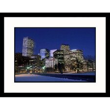 <strong>Great American Picture</strong> Skyline at Night in Denver, Colorado Framed Photograph  - Carl and Ann Purcell