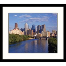 Cityscapes 'Philadelphia Skyline and Schuylkill River' by Bruce Clarke Framed Photographic Print