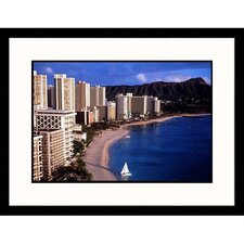 Cityscapes 'Honolulu, Hawaii' by Michael Howell Framed Photographic Print