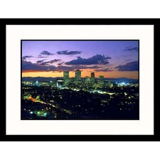 Cityscapes 'Denver at Sunset' by Robert Burrington Framed Photographic Print