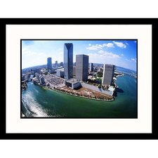 Cityscapes 'Biscayne Bay Meets Miami River' by Scott Smith Framed Photographic Print
