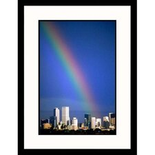 Cityscapes 'Rainbow Over Denver Skyline ll' by Sally Brown Framed Photographic Print