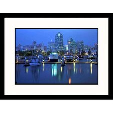 Cityscapes 'Harbor at Dusk in San Diego' by Mark Gibson Framed Photographic Print