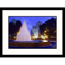 Cityscapes 'City Hall and Bell South in Birmingham' by Ralph Krubner Framed Photographic Print