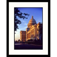 Cityscapes 'Shadow on State Capital Arkansas' by Ralph Krubner Framed Photographic Print