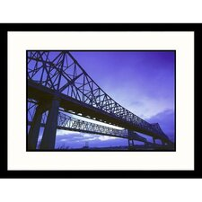 Cityscapes 'Greater New Orleans Bridge' by John Coletti Framed Photographic Print