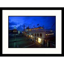 Cityscapes 'Creole Queen Riverboat in New Orleans' by Mark Gibson Framed Photographic Print