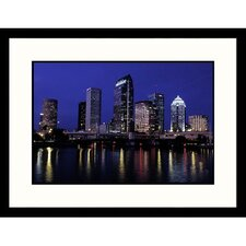 Cityscapes 'Tampa, Florida' by Wendell Metzen Framed Photographic Print