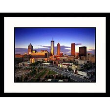 <strong>Great American Picture</strong> Downtown Skyline of Atlanta Framed Photograph - Walter Bibikow