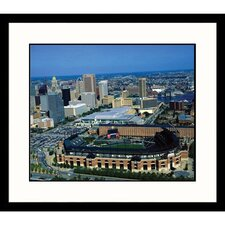 Cityscapes 'Aerial Baltimore Skyline and Camden Yards' by James Blank Framed Photographic Print