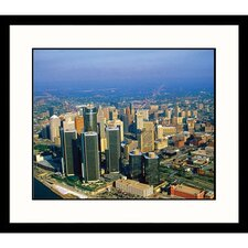 Cityscapes 'Downtown Detroit' by Jim Wark Framed Photographic Print